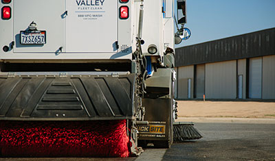 Valley Fleet and Facility Cleaning street sweeping services photo